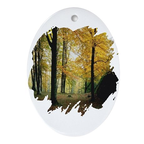 Autumn Woods Oval Ornament