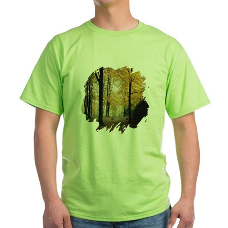 Autumn Woods Green T-Shirt