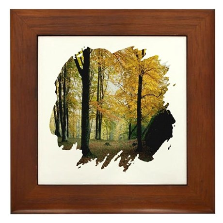 Autumn Woods Framed Tile