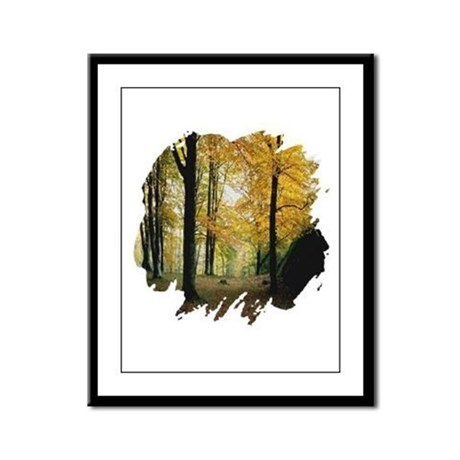 Autumn Woods Framed Panel Print