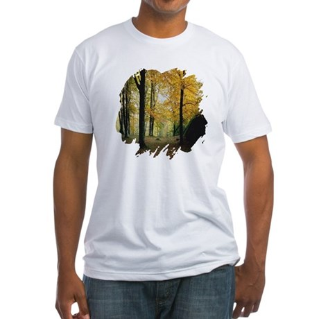 Autumn Woods Fitted T-Shirt