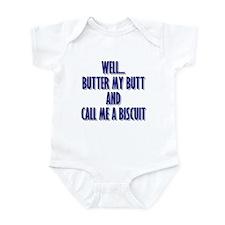 Butter My Butt (Blue) Infant Bodysuit