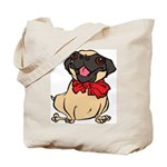 Pug with a bow Tote Bag