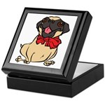Pug with a bow Keepsake Box