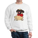 Pug with a bow Sweatshirt