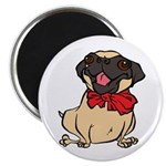 Pug with a bow Magnet