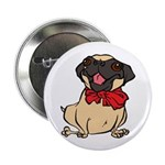Pug with a bow Button