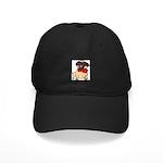 Pug with a bow Black Cap