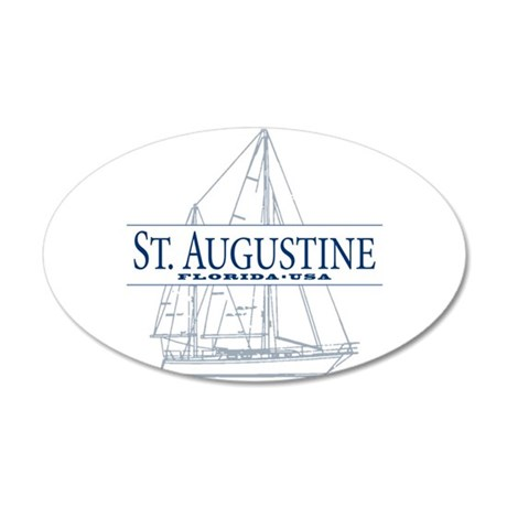 St. Augustine - 35x21 Oval Wall Decal
