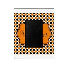 Personalizable Orange and Black Dots Picture Frame