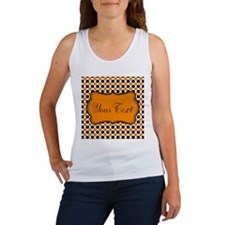 Personalizable Orange and Black Dots Tank Top