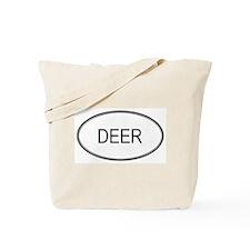 DEER (oval) Tote Bag