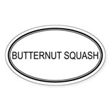 BUTTERNUT SQUASH (oval) Oval Decal