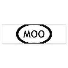Cute Moo Bumper Sticker