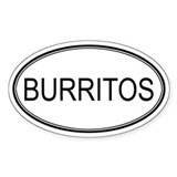 BURRITOS (oval) Oval Decal