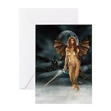 Cute Warrior fairy Greeting Card