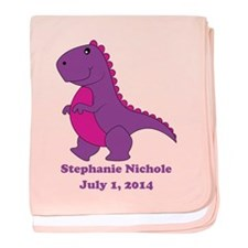 Dinosaur Purple baby blanket