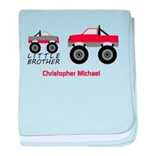 Little Brother Trucks Baby Blanket