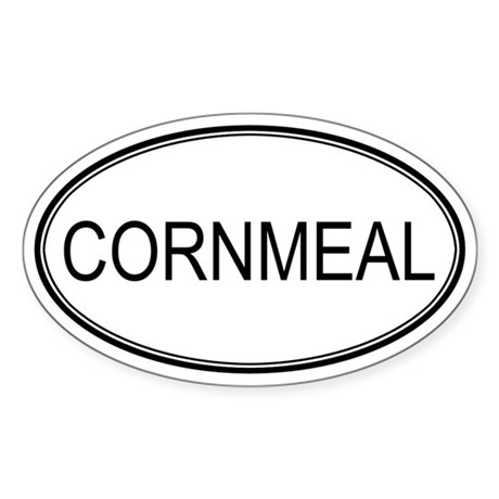 CORNMEAL (oval) Oval Sticker