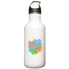 Hippo Hearts Water Bottle