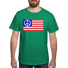 US flag peace T-Shirt