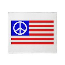 US flag peace Throw Blanket
