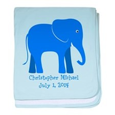 Elephant Blue baby blanket