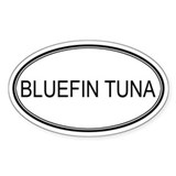 BLUEFIN TUNA (oval) Oval Decal