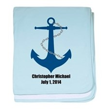 Anchor (blue) Baby Blanket