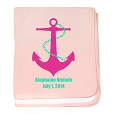 Anchor Pink baby blanket