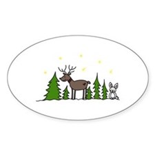 Reindeer Scene Decal
