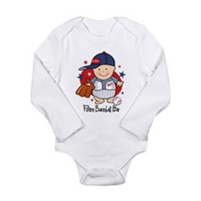 Future Baseball Star Long Sleeve Infant Body Suit