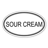 SOUR CREAM (oval) Oval Decal