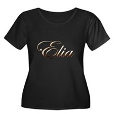 Gold Elia Plus Size T-Shirt