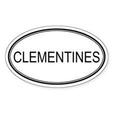 CLEMENTINES (oval) Oval Decal