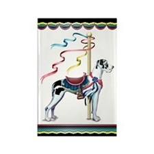 Great Dane Harle UC Carousel Rectangle Magnet