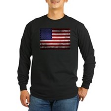Vintage USA Flag Long Sleeve T-Shirt
