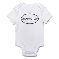 SINGAPORE FOOD (oval) Infant Bodysuit