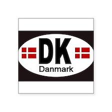 """Cute Danish Square Sticker 3"""" x 3"""""""