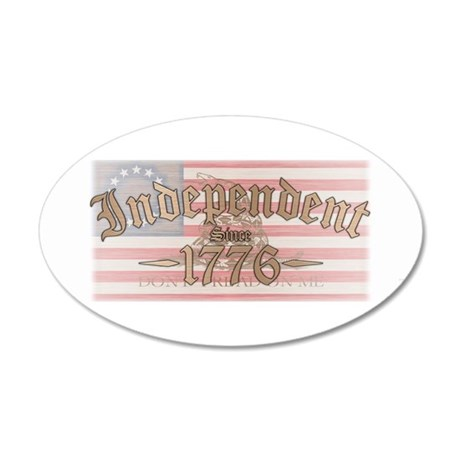 Independent 35x21 Oval Wall Decal