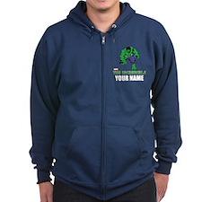 The Incredible Hulk Personalized Zip Hoodie