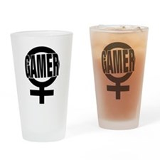 Unique Gamer girl Drinking Glass