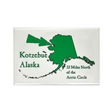 Kotzebue Map Rectangle Magnet