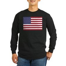 United States Of America Flag Long Sleeve T-Shirt