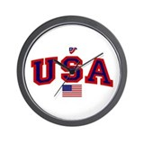 USA Flag Wall Clock