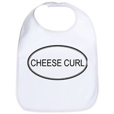 CHEESE CURL (oval) Bib