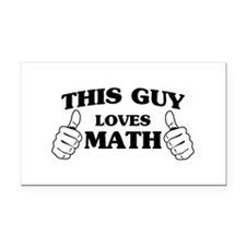 This guy loves math Rectangle Car Magnet