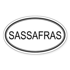 SASSAFRAS (oval) Oval Decal