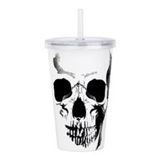 skull-face_bl.png Acrylic Double-wall Tumbler