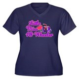 Little Miss 18-Wheeler Women's Plus Size V-Neck Da